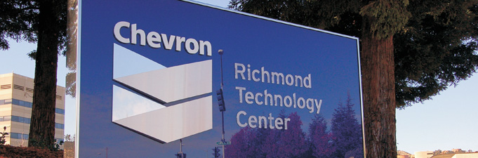 Chevron Monument Sign