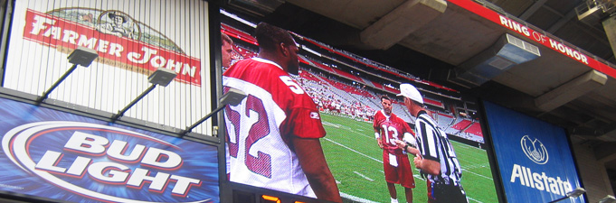 Arizona Cardinals Video Board